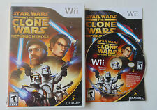 Star Wars: The Clone Wars - Republic Heroes (Nintendo Wii, 2009) complete