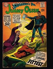 """Superman's Pal, Jimmy Olsen #115 ~ """"Survival of the Fittest!"""" ~ (7.0) 1968 WH"""