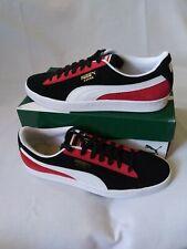 Mens Puma Suede Classic Kokono Athletic Shoes-SZ 11.5 -Black White Red-369640 01