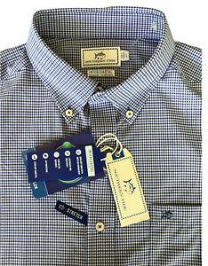 NWT $130 L SOUTHERN TIDE Intercoastal brrr TRIPLE CHILL  Long Sleeve Check Shirt