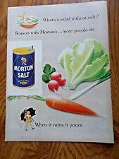 1952 Morton's Salt Ad What's a Salad without Salt? 1952 Ad De Beers Diamonds Ad