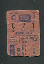 1979 Bruce Springsteen No Nukes Concert Ticket Stub Jackson Browne Chaka Khan