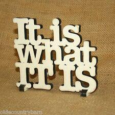 It Is What It Is Wood Word Art Table Top Shelf Decor