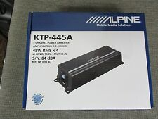 ALPINE KTP-445A 4 CHANNEL COMPACT SIZE CAR AMPLIFIER 45 WATTS RMS X 4