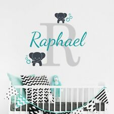 Especially for your baby! Wall Sticker With elephants+personal name is adjusted!