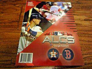2018 ALCS Postseason Playoff Program Astros vs Red Sox World Series Bregman JD