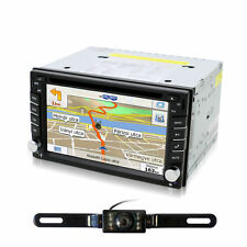 Double 2 DIN GPS Navi Car CD DVD Player Bluetooth Auto Stereo Radio USB + Camera