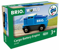 BRIO 33130 Cargo Battery Train Engine Wooden Plastic Railway Age 3 Years+