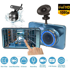 """SUNKUD 4""""Touch Screen Car DVR Rearview Camera Dash Cam Dual Lens Night Vision SD"""