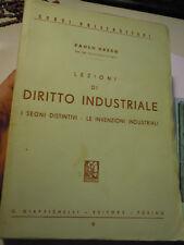 """GRECO """"Lezioni di diritto industriale. I segni distintivi, le invenzioni.."""" 1956"""