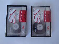 2 Audiocassette Raks Sx 60min. Cassette Type I
