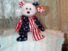 9d1c334b1c0 TY beanie baby babies bear Spangle Red USA 6-14-1999 Red Head mint