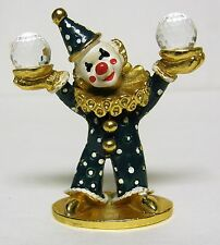 Spoontiques 1985 Pewter Clown w/ Swarovski crystals