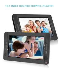 """2x10.1"""" Auto Tragbarer DVD Player Kopfstütze TFT HD Bildschirm USB AKKU Kinder"""