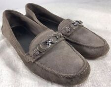 eb64654e5ed COACH Fortunata Loafers Feathered Slip On Gray Suede Women s SZ 8.5 B  Excellent