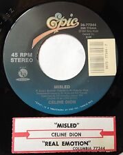 Celine Dion 45 Misled / Real Emotion  w/ts  VG++ or better