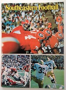 Southeastern Football Mag Vtg 1973 Rare VHTF SEC NFL UGA Johnson Rhino Bear Girl