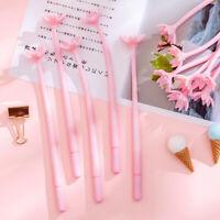 Kawaii Cute Pink Cherry Blossom Gel Pen 0.5mm Black Ink Office School Supplies N