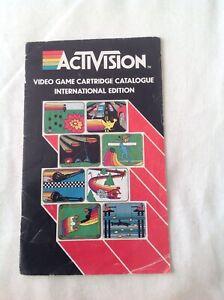 Activision Video Game Cartridge Catalogue International Edition