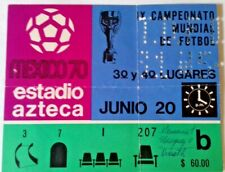 More details for uruguay v west germany 3/4 playoff match ticket 20th june 1970 azteca stadium.