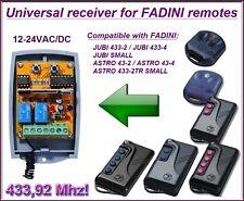 FADINI universal 2-canali ricevitore, 12-24 VAC / VDC per Fadini trasmettitori