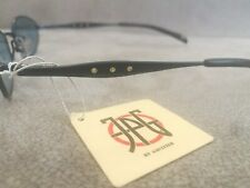 Jean Paul Gaultier JPG Vintage OVAL Sunglasses 58-0066 Navy Blue  Blue Lenses