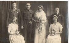 """Soldier (Royal Artillery) & Wife, Family Wedding"" Photograph,Postcard"