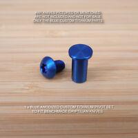 Benchmade 551 550 553 Full Griptilian 2 PC Custom Ti Titanium Pivot Set - BLUE