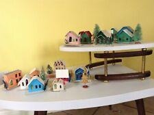 lot 16 vintage japan christmas cardboard village house putz