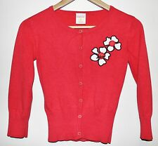 DIESEL GIRLS KNITTED CARDIGAN FROM USA SIZE SMALL CHERRY RED SEAL OF QUALITY EXC