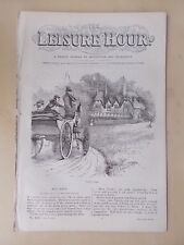 ANTIQUE VICTORIAN THE LEISURE HOUR MAGAZINE PAPER No 1116 MAY 17th 1873