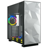 Rosewill ATX Mid Tower Gaming RGB Computer Case with Tempered Glass and Fans