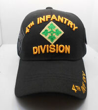 4th Infantry Division Military Ball Cap Hat In Black HH-7