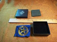 Franklin Mint Sterling Silver Badge - Great Western Lawmen - Marshal Wichita