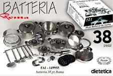 BATTERIA CUCINA PENTOLE BAVARIA ROMA 38 PZ DIETETICA 18/10 ORIGINALE FAI 149955