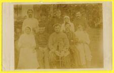 cpa Carte Photo Militaire GUERRE 1914-1918 WW1 Soldats Poilus Hopital Infirmière