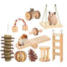 10 Pcs Set Hamster Chew Toys Natural Wooden Gerbils Rats Chinchillas Toys E4H7