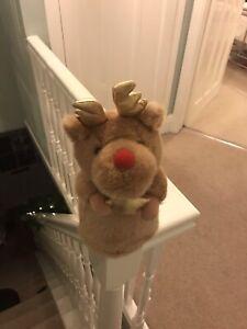 Rudolph Plush Christmas Tree Topper