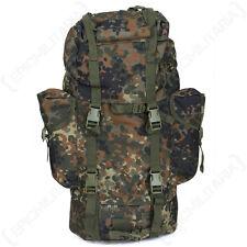 German Army Flecktarn 65L Rucksack - Military Backpack Bag Cadets Hiking D of E