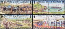 Alderney 1997 Ships/Paddle Steamer/Trains/Steam//Railway/Royalty 8v set  n26159b