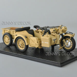 Atlas 1:24 BMW R75 Panzerfaust 30 Sidecar Motorcycle With Oil Barrels Replica