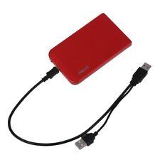 """Rouge USB 2.5 """"Disque dur IDE HDD HD boîtier de boîtier externe + sacoche e V2E6"""