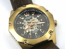 Rotary GS03602/A/04 Gents Skeleton Automatic Rose Gold Case Watch - 100m