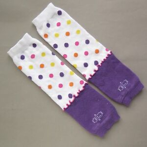 Original BL BABYLEGS BABY GIRL LEG WARMERS   White Purple Confetti   Toddler Kid
