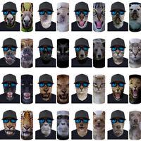 Funny Animal Face Scarf Neck Snood Warmer Tube Men Head Shawl Biker Ski Bandanas