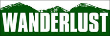 3x9 inch WANDERLUST Colorado Green Mountain Bumper Sticker - decal ski hike