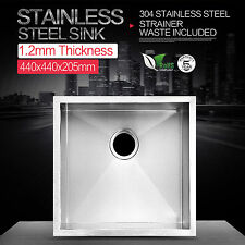 Single Bowl Kitchen Sink Stainless Steel 304 TOPMOUNT UNDERMOUNT 440x440 Drop in