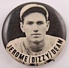 "Dizzy Dean Baseball HOF Orig. 1940's Stadium Pin PM10 St. Louis Cardinals 1 3/4"""