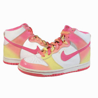 Nike Dunk High Pink Rainbow 2008 Release 316604-161 GS Size 4Y / 5.5 Women's