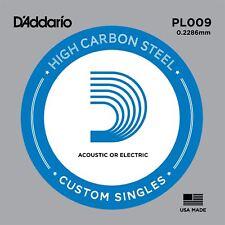 Cadena De Acero D'Addario PL009 único para Guitarra Acústica Eléctrica Calibre 8